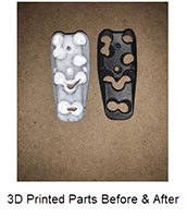 3D Printed Parts Before & After