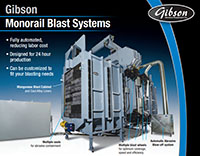 Gibson Monorail Blast System Features